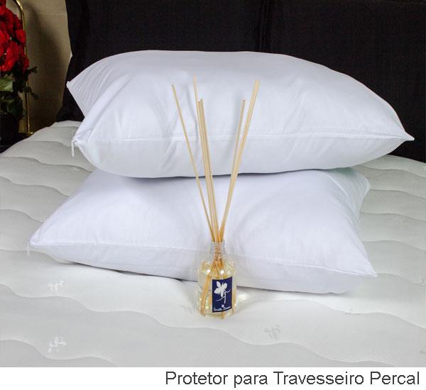 Protetor travesseiro luxo percal
